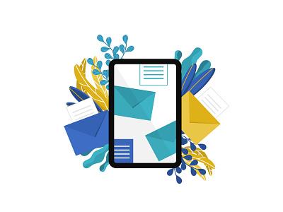 Emails design illustration vector affinity vectorart business message receive emarketing email receipt email marketing correspondence email design email