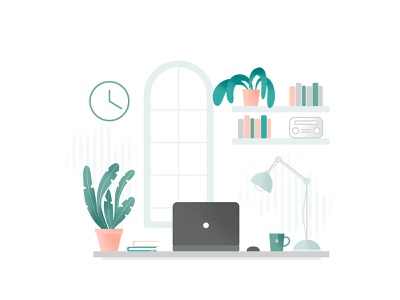 Home Office 1 vectorart online web illustration desk home design wector affinity homeoffice business work freelance home office