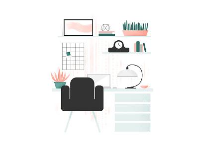 Home Office 2 home office vectorart illustration online design affinity web illustration business work desk freelance office home homeoffice