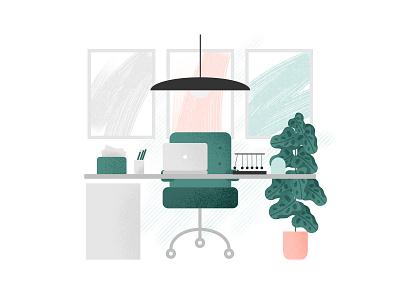 Home Office 3 online homeoffice desk web illustration design job affinity vector business freelance illustration office home home office