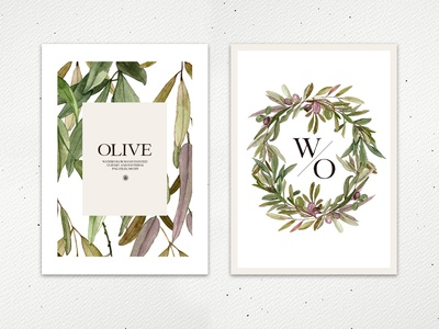 Olive - watercolor hand painted floral set watercolor clipart hand painted watercolor painting watercolor olive