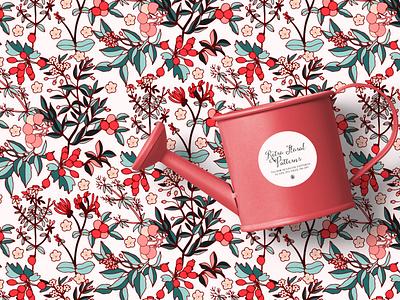 Retro Floral Pattern fabric seamless pattern pattern design flowers vectorart vector