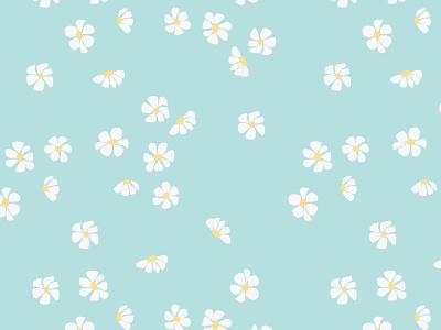 Daisies - vector seamless pattern daisy flowers fabrics seamless pattern vector