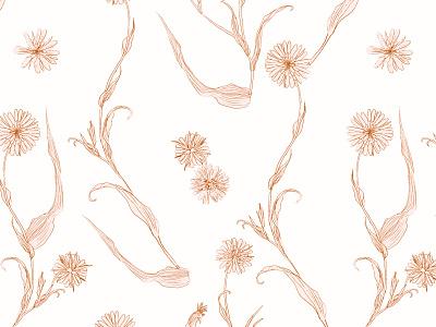 Floral hand drawn vector seamless pattern patternbank hand drawn illustration flowers seamless pattern vector