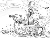 CoffeeCat-Setting Sail