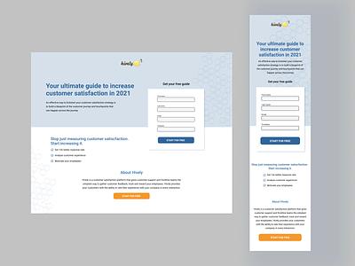 Ebook landing page for Hively landing branding design webdesign saas ux landingpag
