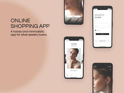 Silver Jewelry Shop App shopdesign shopux mobileux uiux branding mobiledesign