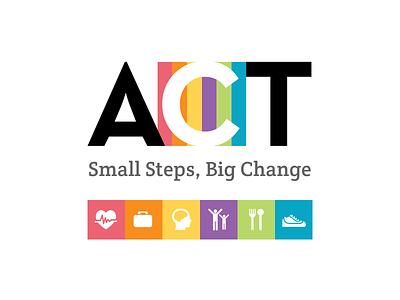 Act Logo - Brand logo typography wellness health
