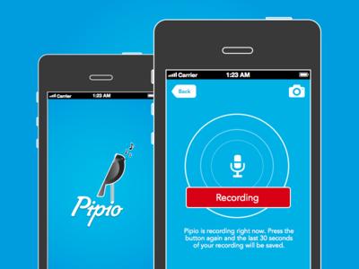 Pipio Recording Screen birding mobile blue