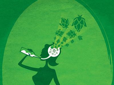 WIP The Brain Blaster - A Hoppy IPA illustration beer