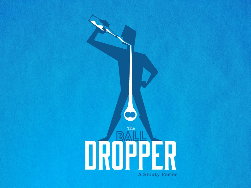 The Ball Dropper beer label beer typography