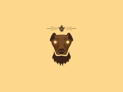 Bearded Dog Logo WIP beer logo