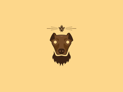 Bearded Dog Logo WIP beer logo