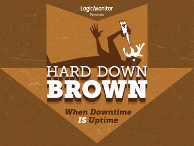 Hard Down Brown beer label typography homebrew