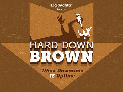 Hard Down Brown beer label typography homebrew