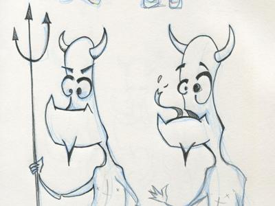 Devilman illustration sketch
