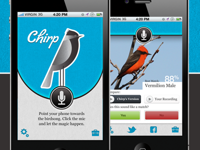 Chirp iPhone app app mobile iphone bird