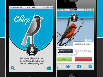 Chirp iPhone app app mobile iphone bird