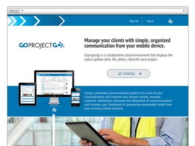 GoProjectGo Homepage WIP web webdesign blue