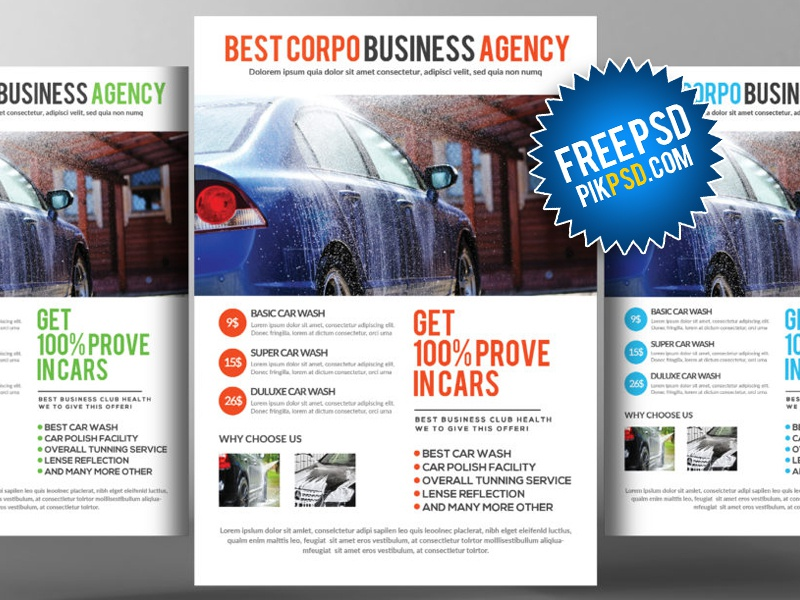 Free Car Wash Flyer Psd By Aliiqbal Dribbble Dribbble