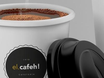 Free El Cafeh Coffee Cup Psd Mockup