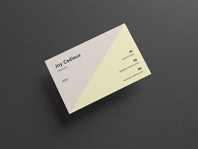 Free Modern Stylish Business Card Mockup