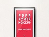 01 free poster mockup - Free Poster Mockup Psd Download