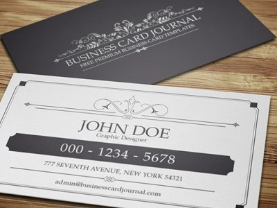 Classy elegant vintage business card template by aliiqbal dribbble classy elegant vintage business card template black white 0005 accmission Image collections
