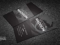 Photographer black and white typography business card template 0004