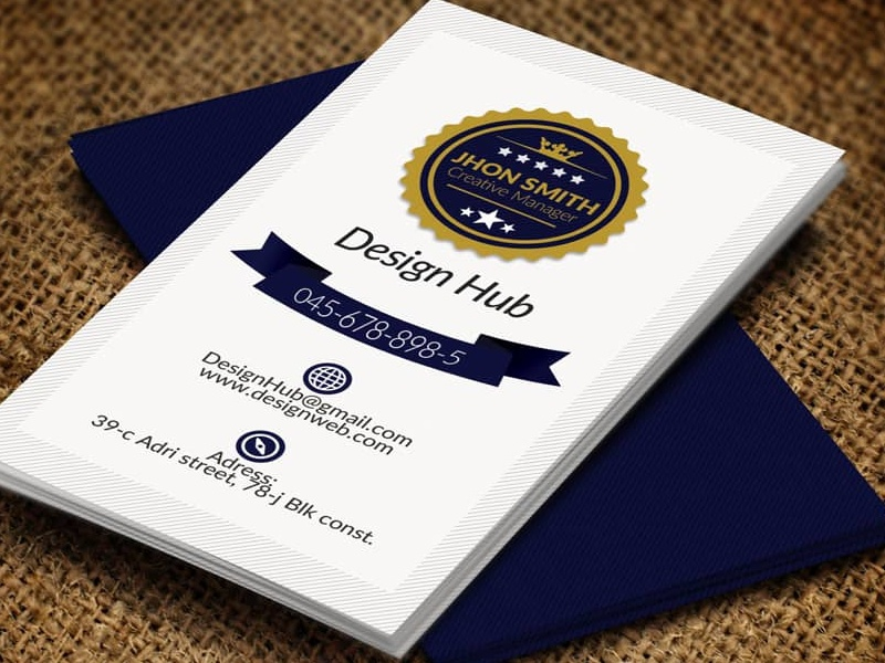 Vertical Retro Vintage Business Card Template By Aliiqbal Dribbble