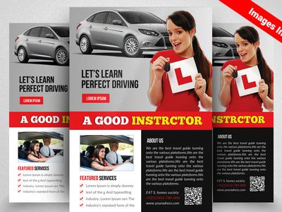 Driving School Flyer Template By Aliiqbal Dribbble