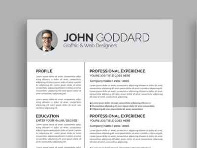Resume Template 2 page pack