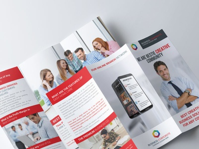 Business Team Trifold Brochure Template