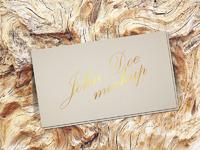800 - Free Gold Foil Business Card Mockup Psd