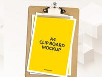 mockup - Free A4 Clipboard Mockup Psd Download