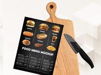 mockup - Free Food Menu Cutting Board Mockup Psd