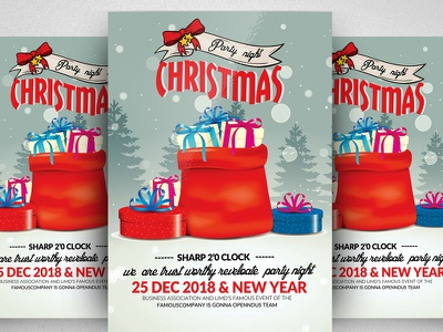 Free Christmas Flyer Psd Template event classic christmas christmas toy christmas gold toy christmas flyer christmas