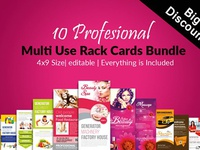 10 Multi Use Rack Card Bundle