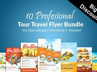 10 Tour Travel Agency Flyers Bundle