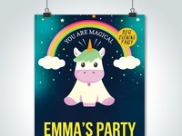 Free Emma Party Psd Flyer Templates