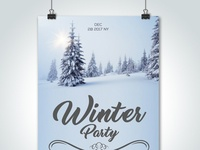 Winter Party Psd Flyer Templates