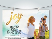 Free Christmas Invitation Card Psd Templates