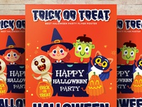 Free Halloween Trick or Treat Psd Flyer Templates