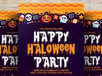 Free Trick or Treat Party Psd Flyer Templates