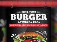 Free Beef Burger Psd Flyer Templates