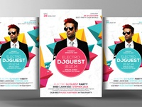 Free Guest Party PSD Flyer Template