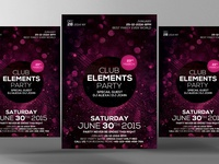 Free Club Elements PSD Flyer Template