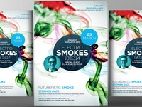 Free Smoke PSD Flyer Template