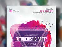 Free Futuristic Psd Flyer Templates