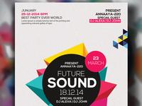 Free Future Sound Psd Flyer Templates